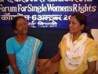 Women create a united front during the National Forum for Single Women's Rights. / Credit:Nitin Jugran Bahuguna/IPS